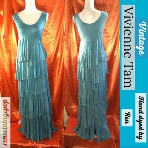 Water Sprite Hand Dyed by me Vntg Maxi Dress
